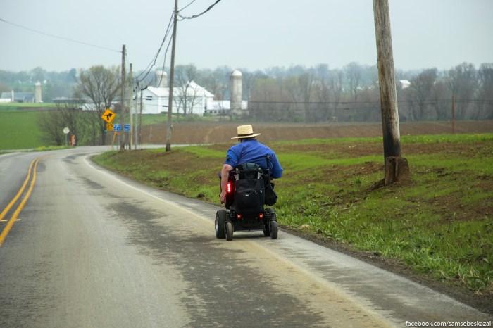Amisi ne vodat masin i ne ispolʹzuut velosipedy, no okazyvaetsa, cto u nih i takoe byvaet.