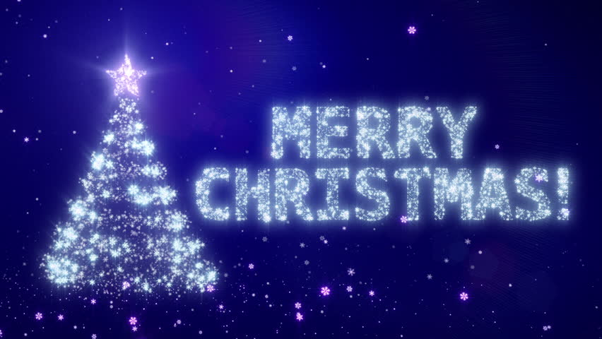 Christmas Background With Bright Snow Black Background