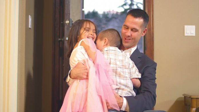 Image result for children running to father arriving home