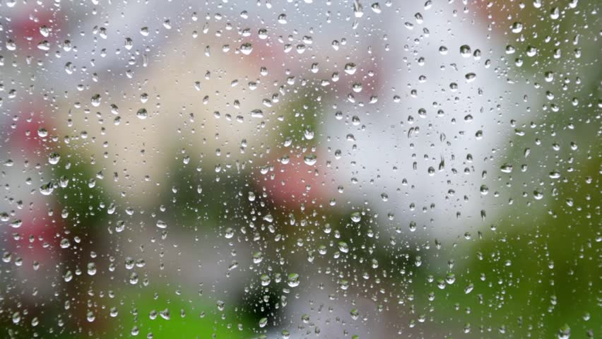 Raindrops Falling From The Sky Wallpaper Heavy Rain Falling Against Large Window Pane Raindrops