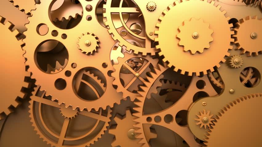 3d Moving Wallpaper Download For Windows 7 Industrial Video Background Fantasy Golden Clockwork With