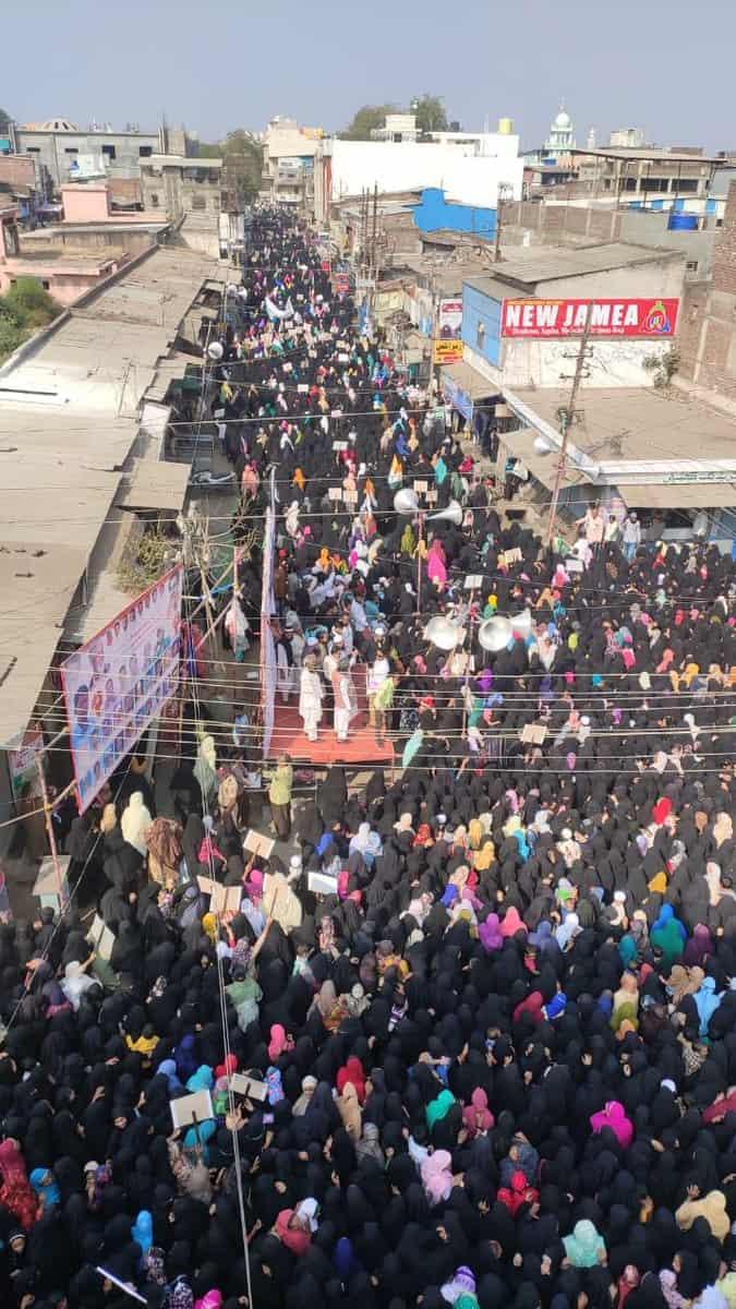 Huge protest against CAA_NRC_NPR by Malegaon women