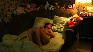 Teen babe masturbating on_the bed image