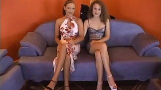 Curly Euro teens in lesbian love image