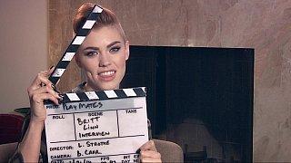 Image: Interviewing Britt Linn