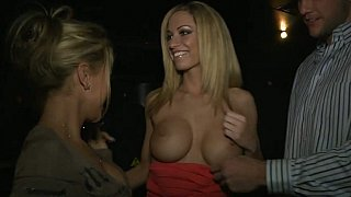 Pretty girl sucking big cock in_the VIP image