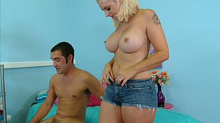 Busty mommy having sex with her step-son image