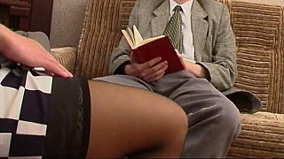 Long legged Russian MILF in stocking and a_guy image