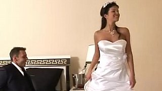Bride gets fucked in her_beautiful white wedding dress image