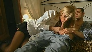 Blonde_step-mom_in_stockings_seducing_son - ebomy mom son image