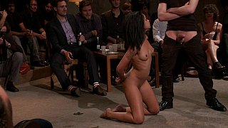Young black girl Skin Diamond gets gangbanged in front of ppl image