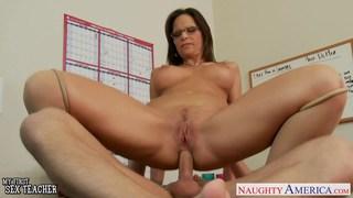 Sexy teacher Syren De Mer suck and fuck a big cock image