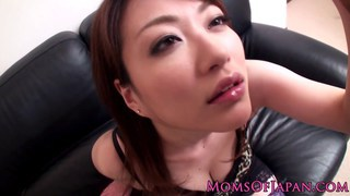 Japanese_mom_Akari_Hoshino_in_stockings_pov_titjob image