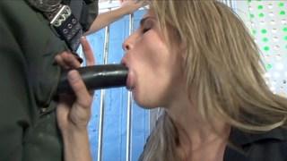 Kara Price sucking military cock image