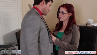 Image: Redhead Penny the new office slut
