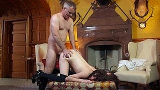 Samantha having anal sex and swallowing cum image