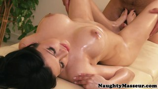 Busty mexican babe_fucking her masseur image