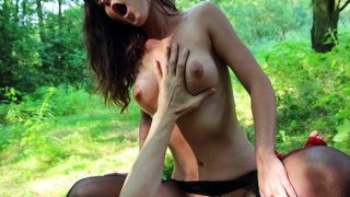 Teen slut in_pantyhose gets banged in public sex video image