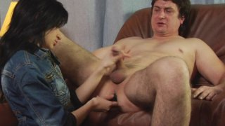 Femdom_MILF_fucks_dirty_male_ass_hole_and_jerks_off_small_cock image