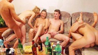 Image: Hardcore group fucking at_wild sex party