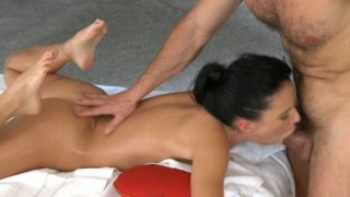 Teen_brunette_babe_deep_massaged_with_fingers_and_big_mature_cock image
