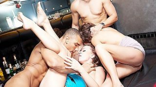 Student party group sex in the bar image