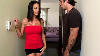Cheating wife McKenzie Lee seducing her son's best friend image