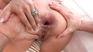 Holly Halston anal fucked by a huge rod image
