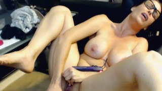 Babe Masturbating with a Vibrator and having Multiple Orgasm image