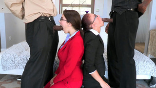 Mischa Brooks and Valentina Nappi got on their knees and went to town image
