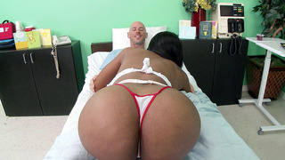 Big butt nurse Codi Bryant gives her patient an amazing head image