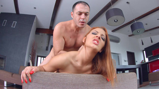 Aylin Diamond getting her hungry pussy banged doggy style image