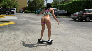 Luna Star shows us a few tricks on the self-balancing two-wheeled board image