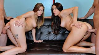 Pounding Two gorgeous babes image