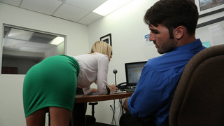 Guy got caught jerking off to his secretary image
