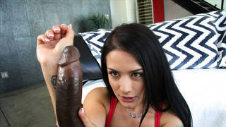 Her first experience with_a big black cock image