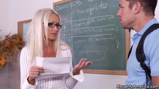 My teacher helps me get inside her wet pussy image