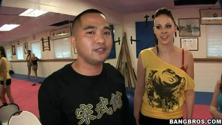 Gianna Michaels,  Jessica Lynn,  Nikki Rhodes have kung fu lesson image