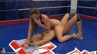Babes_Cathy_Heaven_and_Ivana_Sugar_fight_naked image