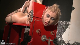 Image: BDSM action with nasty lesbians named Mandy Bright and Nikky Thorne