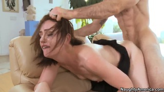 The slutty wife Sarah Shevon gets_the big husband friend's dick image