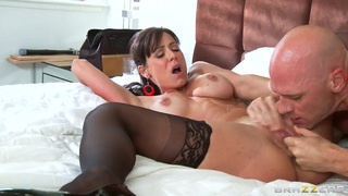 Petite aggressive curve Kendra Lust fucks her friend Johnny Sins image