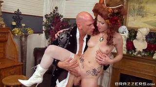 Image: Hot redhead Veruca James rides a stiff meat pole