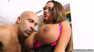 Emma Butt takes off her big bra to show her massive hills image