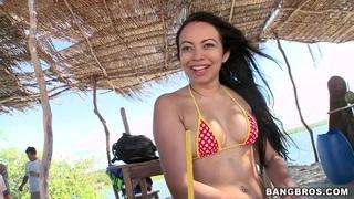 Thais Leima poses and shows her precious boobs image