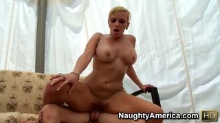 Image: Juicy whore Skyla Paris rides fat cock fast and wild!