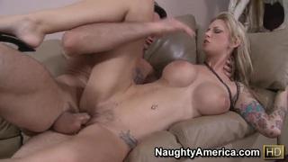 Depraved hot blonde Brooke Banner with huge boobs get fuck image