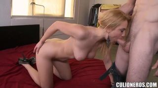 Hot ass blonde Courtney Shea takes on huge cock image