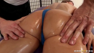 Presley Hart gets her birthday present in the massage parlor image