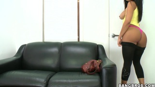 Image: Luna Star hot audition tape with solo and blowjob
